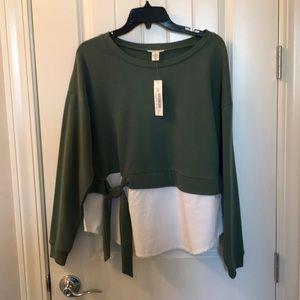 Westbound Cotton & Sweatshirt Top